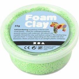Creativ Company Mousse argile verte au néon