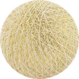 Cotton Balls Boule de coton blanc-or