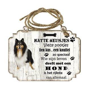 Creatief Art Hondenbordje: Schotse Herdershond