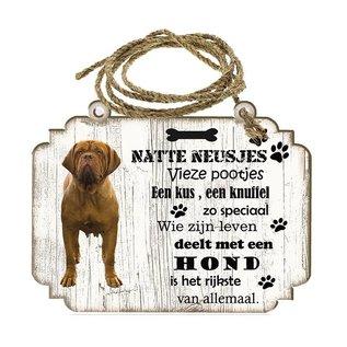 Creatief Art Hondenbordje: Bordeaux Dog