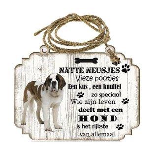 Creatief Art Hondenbordje: Sint Bernard