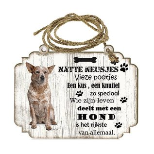 Creatief Art Hondenbordje: Australian Cattle Dog