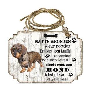 Creatief Art Hondenbordje: Ruwharige tekkel