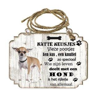 Creatief Art Hondenbordje: Chihuahua kort haar