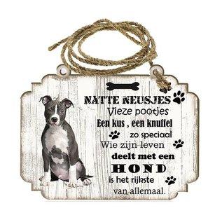 Creatief Art Hondenbordje: American staffordshire terrier