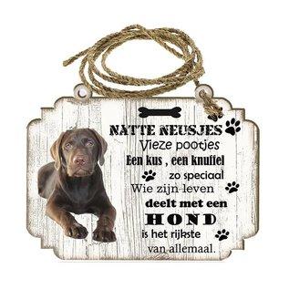 Creatief Art Hondenbordje: Labrador bruin