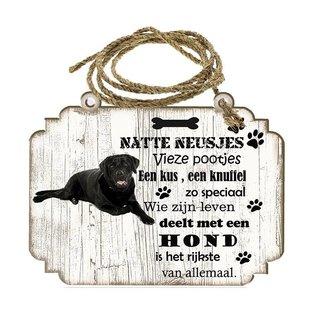 Creatief Art Hondenbordje: Labrador zwart