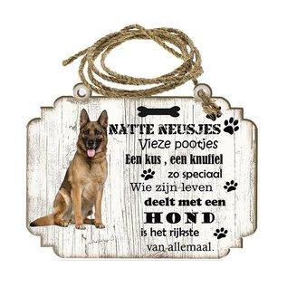 Creatief Art Hondenbordje: Duitse herder