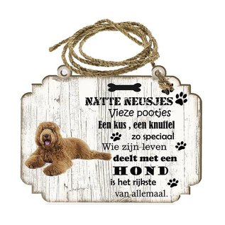 Creatief Art Hondenbordje: labradodel bruin