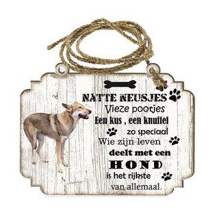 Hondenbordje: Saarloos Wolfhond