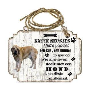 Creatief Art Hondenbordje: Spaanse Mastiff