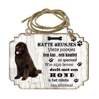 Hondenbordje: Newfoundlander