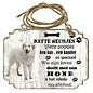 Creatief Art Hondenbordje: Pyrineese Berghond