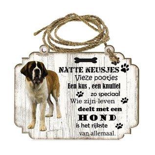 Creatief Art Hondenbordje: Sint Bernard (langhaar)