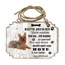 Creatief Art Hondenbordje: Australische Silky Terier