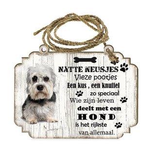 Hondenbordje: Dendie Dinmond Terriër