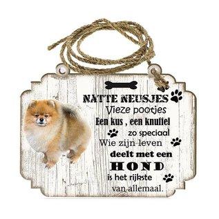 Hondenbordje: Keeshond Dwerg