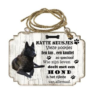 Hondenbordje: Noorse Elandhond