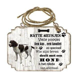 Hondenbordje: Duitse Staande Hond Draadhaar
