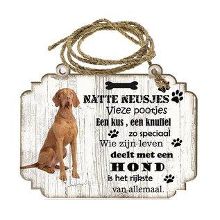 Hondenbordje: Vizsla Korthaar
