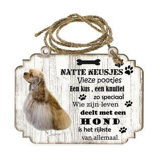 Hondenbordje: Amerikaanse Cocker Spaniel