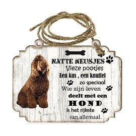 Hondenbordje: Barbet