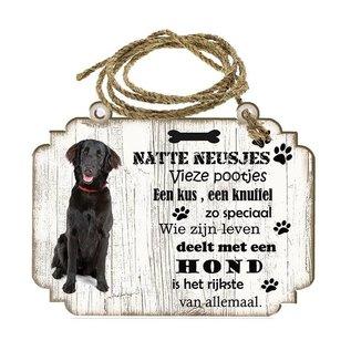 Hondenbordje: Flatceuted Retriever