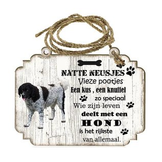 Hondenbordje: Wetterhoun