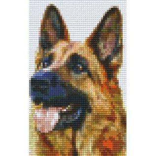 Pixel Hobby Pixelhobby Duitse herder 2 basisplaten