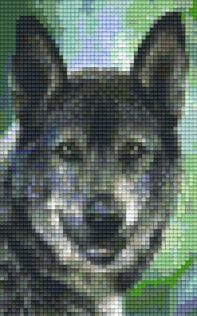 Pixel Art Animaux Loup Facile