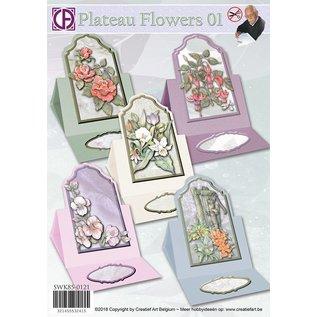 Creatief Art Plateau Blumen 01