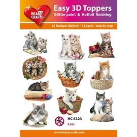 Hearty Crafts 3D-Topper Cats