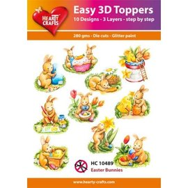 Hearty Crafts 3D-Topper Easter Bunnies