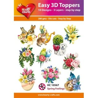 Hearty Crafts 3D-Topper Spring Feelings