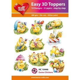 Hearty Crafts 3D-Topper Easter Chickens