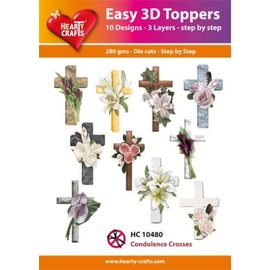 Hearty Crafts 3D Topper Beileidskreuze