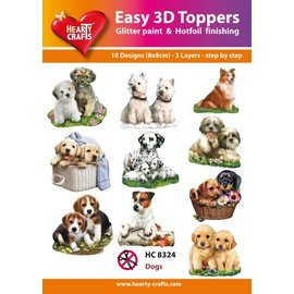 Hearty Crafts 3D-Topper Dogs