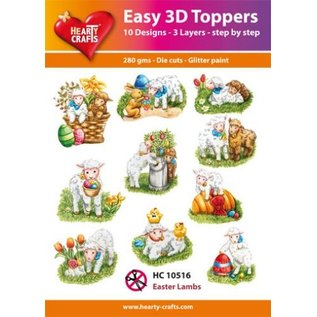 Hearty Crafts 3D-Topper Easter lambs