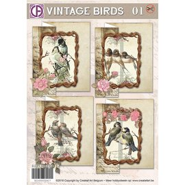 Creatief Art Oiseaux Vintage 01