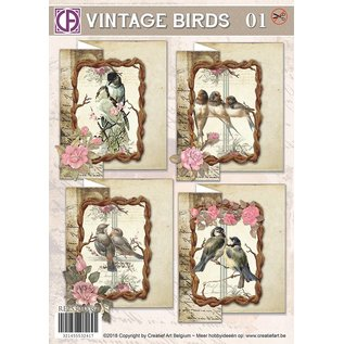 Creatief Art Vintage Vögel 01