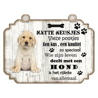 Hondenbordje: Labrador Pup