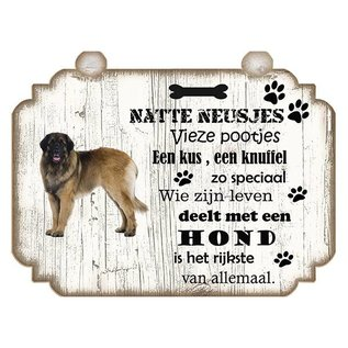 Hondenbordje: Leonberger
