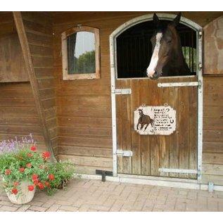 Pferdeplatte: Braun mit Weiß
