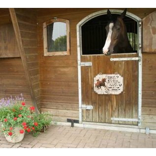 Paardenbordje: Merrie met veulen bruin