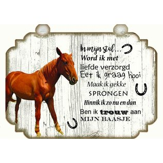 Pferdeplatte: Braun mit Weiß - Copy - Copy