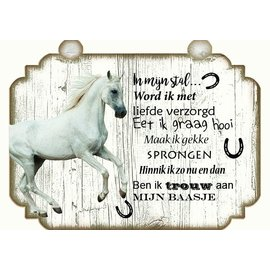 Plaque de cheval: Brun avec blanc - Copy - Copy - Copy