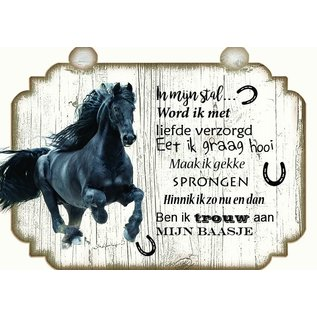Pferdeplatte: Braun mit Weiß - Copy - Copy - Copy - Copy