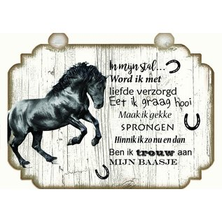 Paardenbordje: Zwart staand