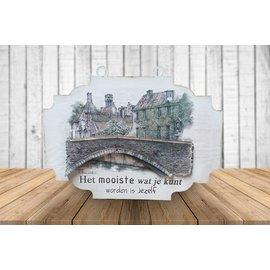 Creatief Art 3D Bordje - Stadsbrug