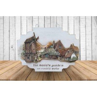 Creatief Art 3D Sign - Bauernhof mit Mühle